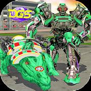 Robot Crocodile City USA Attack : Futuristic War