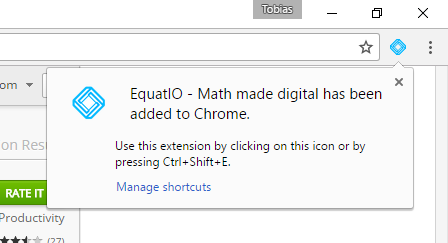 EquatIO has been added to Chrome