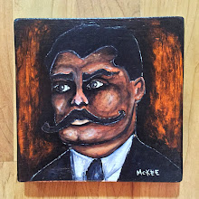 Photo: Emiliano Zapata.  6.25 x 6.25 x 0.75 inches.  Mixed medium on wood.  Ready to hang.  ©Marisol McKee