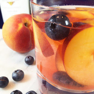 Fruity White Wine Peach Sangria.