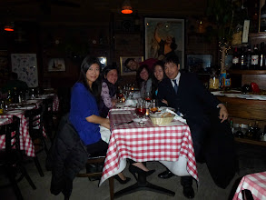 Photo: 3 days later, Ah Yin's daughter Olivia joined up with Ah Mou, wife Carolyn & daughter Erin for dinner at Trattoria in Greenwich Village, New York City
