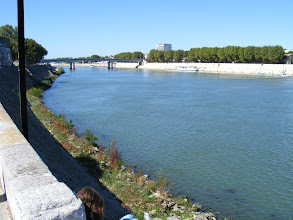 Photo: Rivers were of course key to fixing a city's location, and the Rhone here is no exception. The Trinquetaille Bridge seen here was completed in 1951.