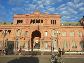 """Photo: Casa Rosada (""""Pink House""""), equivalent to our White House in the US. Pretty appropriate given that Argentina has a female president right now."""