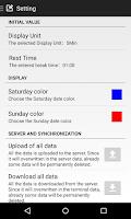 Screenshot of S-Timecard