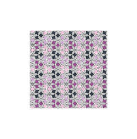 Trikå grafiska blommor