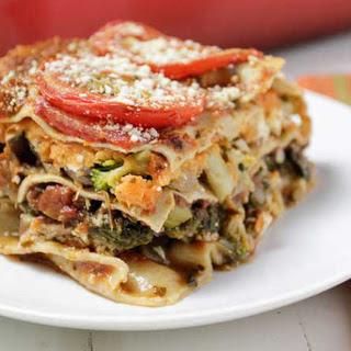 Sweet Potato Veggie Lasagna [Vegan].