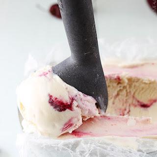 Cherry Swirl Vanilla Ice Cream
