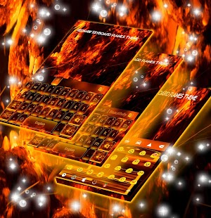Redraw Keyboard Flames Theme - náhled