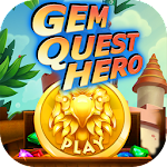 Gem Quest Hero - Match 3 Game Icon