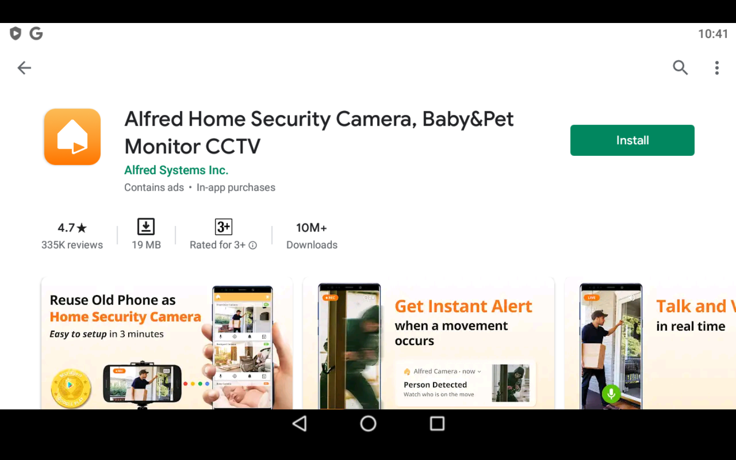Alfred home security app on PC