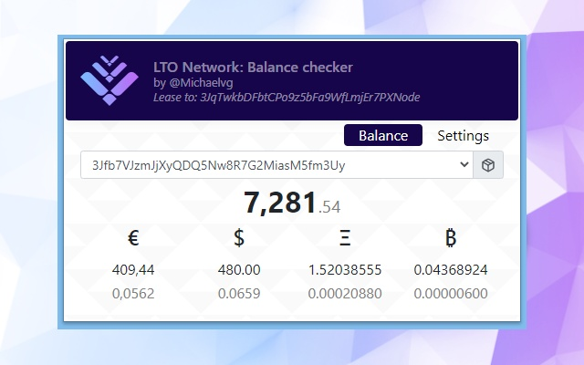 LTO Network Balance Checker