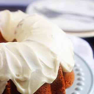 Sour Cream Coffee Cake with Browned Butter Glaze.