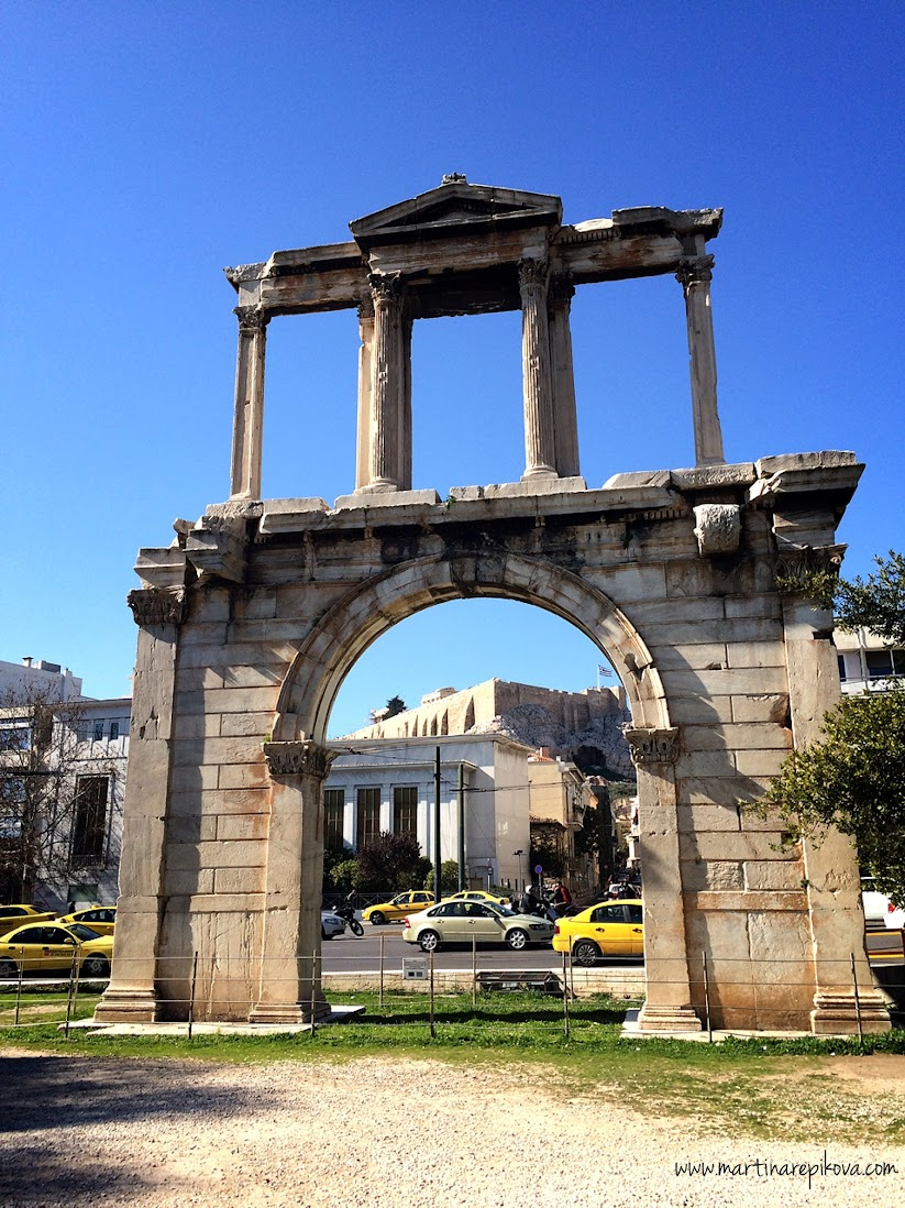 Hadrian's arch, Athens, Greece