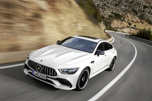 The new Mercedes-AMG GT four-door provides aggression, performance and a bit of family practicality. Picture: DAIMLER