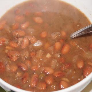 Simple Crock Pot Pinto Beans.