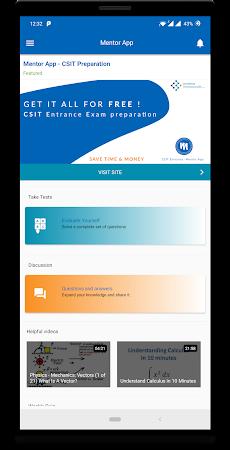 CSIT Entrance Preparation - Mentor App