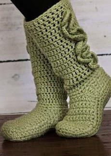 DIYのかぎ針編みの女性のスリッパのおすすめ画像1