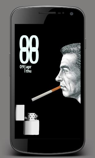 Smoke Cigarette Screen Lock