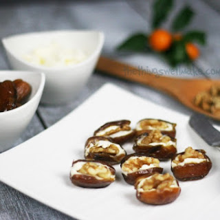 Cheese and Walnut Stuffed Dates.