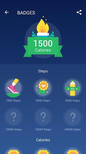 Step Counter - Pedometer Free & Calorie Counter screenshot 4