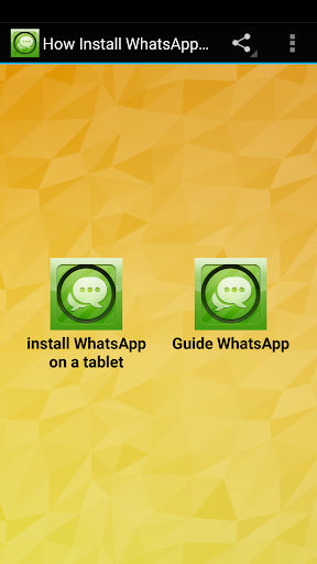 How Install WhatsApp on Tablet