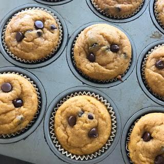 Gluten-Free Pumpkin Chip Muffins.