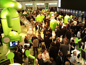 """Photo: The Android """"Stand"""" at Mobile World Congress"""