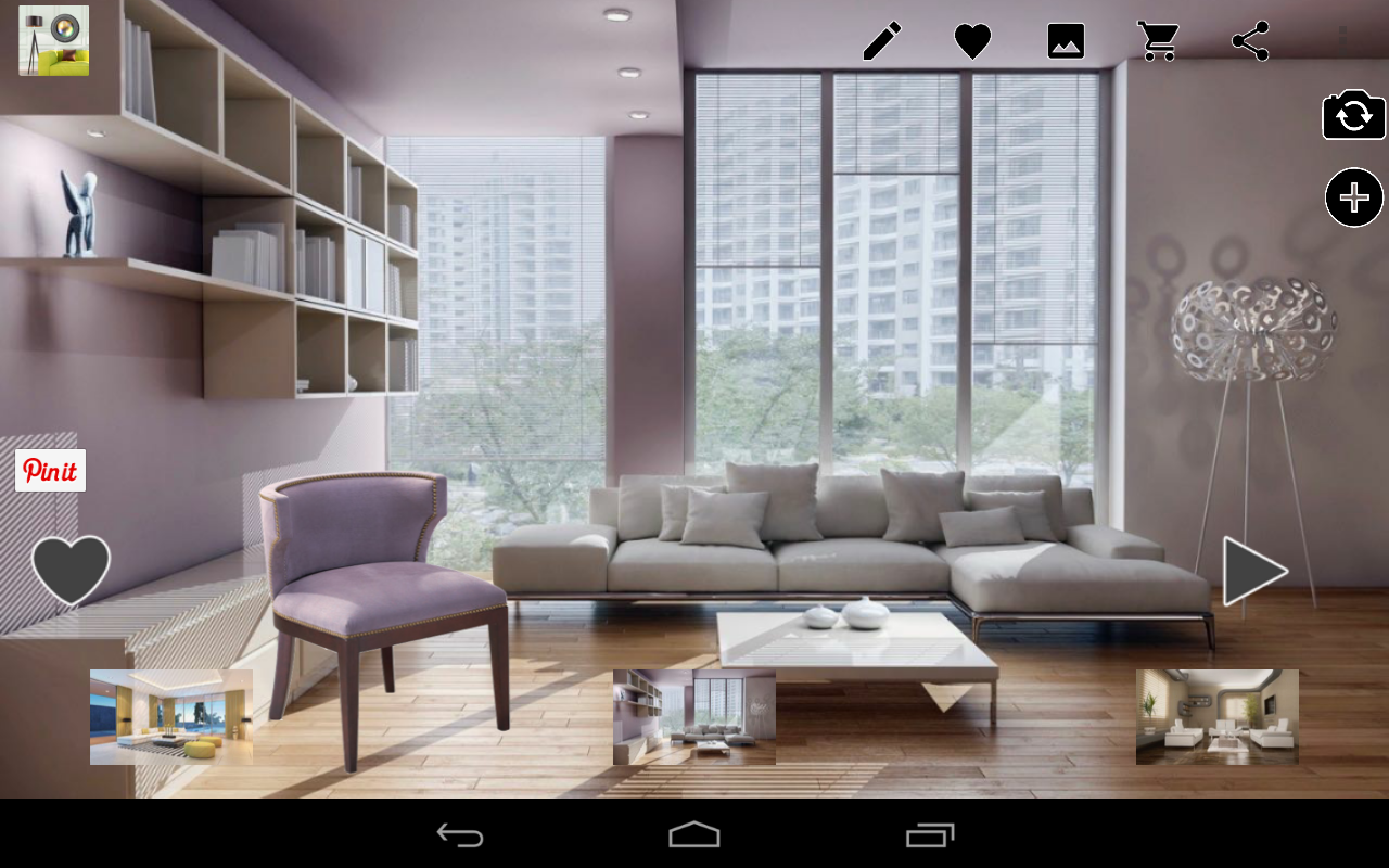 Virtual home decor design tool android apps on google play for Virtually decorate your room