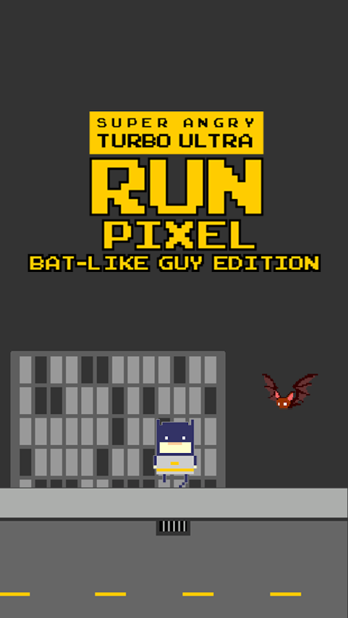Pixel Run - Bat Like Guy Ed- screenshot