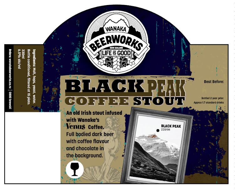 Logo of Wanaka Beerworks Black Peak Coffee Stout