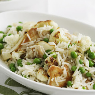Indian Rice with Chicken and Peas