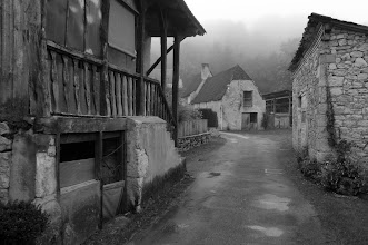 Photo: A gray day shows how St-Martin-de-Vers may have looked in earlier times - taken from just outside our front gate.