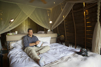 Photo: Terrence relaxes in his room at Lango Camp - http://www.go2africa.com/accommodation/10014/at-a-glance/lango-camp?utm_source=GooglePlus&utm_medium=Social&utm_campaign=Congo