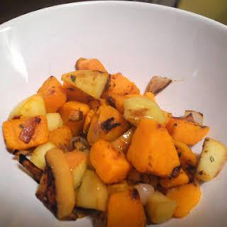 Sweet Potato and Apple Hash.