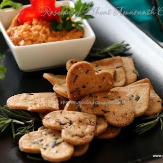 Rosemary Wheat Amaranth Crackers