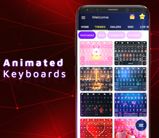 Red Keyboard Themes & Wallpapers screenshots 2