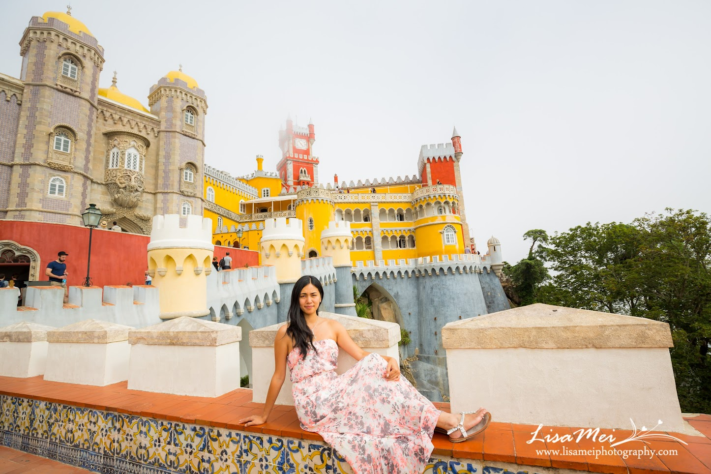 The colorful up in the clouds palace - Pena Palace, Sintra