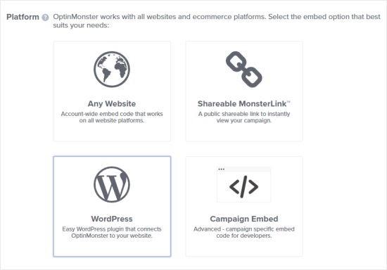 publish pop ups in wordpress using optinmonster