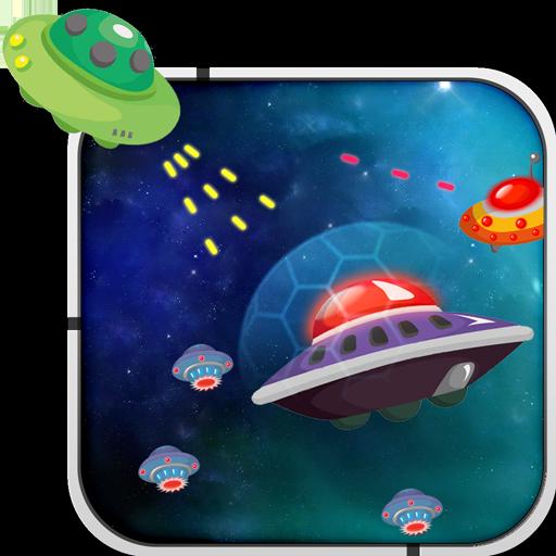 动作の現代のスペースギャラクシーディフェンダー LOGO-記事Game
