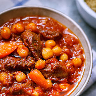 Spiced Braised Beef with Chickpeas.