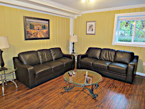 Photo: LVING ROOM - NEW LEATHER COUCHES