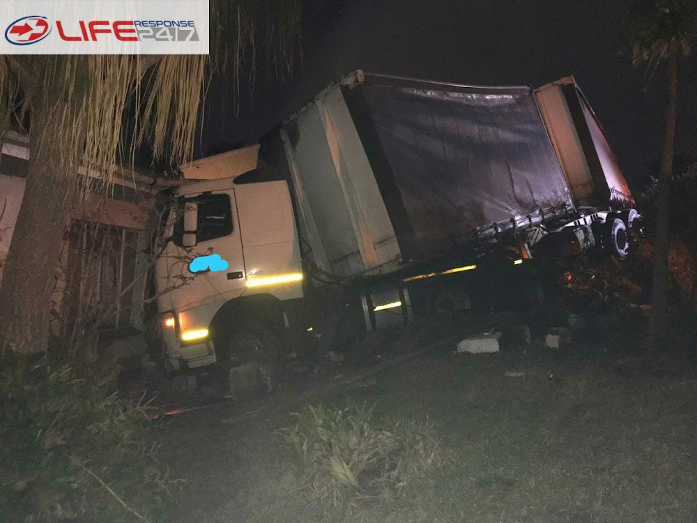 Truck driver hits head and dies in 'freak accident' after four-car collision - TimesLIVE
