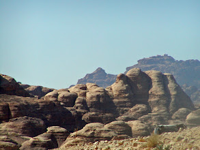 Photo: Over beyond these rocks is one of the Wonders of the World, ancient Petra.