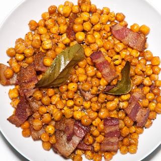 Bacony Roasted Chickpeas.