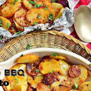Grilled BBQ Potato Bundles with Chorizo