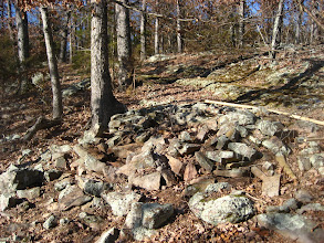 Photo: Cairn #K w/ a section of the wagon trace just above