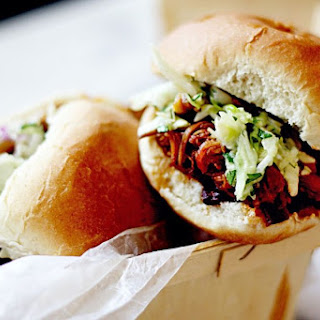 Slow Cooker Cherry Chipotle Pulled Pork with Cilantro Lime Slaw Recipe