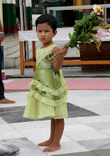 Photo: Year 2 Day 54 -  A Young Girl With Her Flower Offering for the Buddha