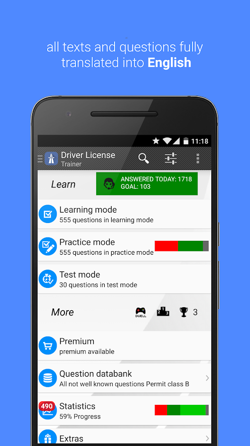 Driver License Trainer 2016- screenshot
