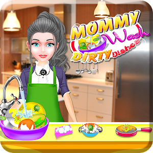 Mommy Wash Dirty Dishes for PC and MAC